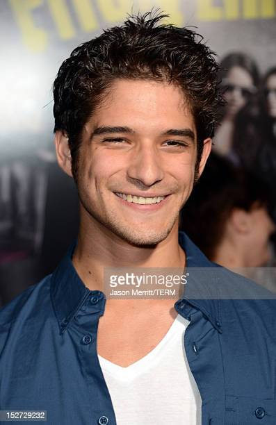 Actor Tyler Posey arrives at the premiere of Universal Pictures And Gold Circle Films' Pitch Perfect at ArcLight Cinemas on September 24 2012 in...