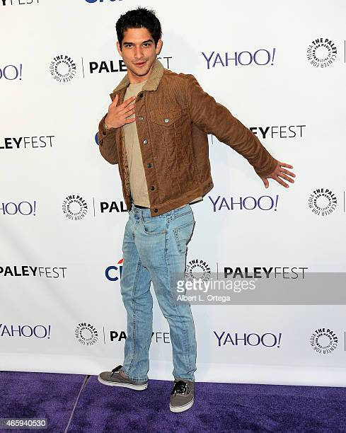 Actor Tyler Posey arrives for The Paley Center For Media's 32nd Annual PALEYFEST LA 'Teen Wolf' held at Dolby Theatre on March 11 2015 in Hollywood...