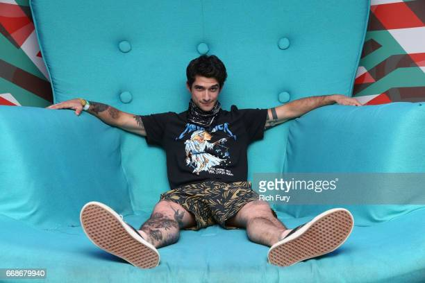 Actor Tyler Posey attends HM Loves Coachella Tent during day 1 of the Coachella Valley Music Arts Festival at the Empire Polo Club on April 14 2017...