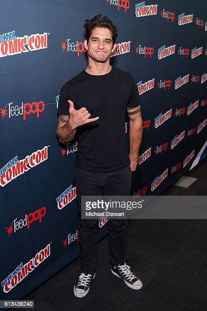 Actor Tyler Posey attends the MTV Teen Wolf Final Farewell press room during 2016 New York Comic Con at the Jacob Javitz Center on October 8 2016 in...