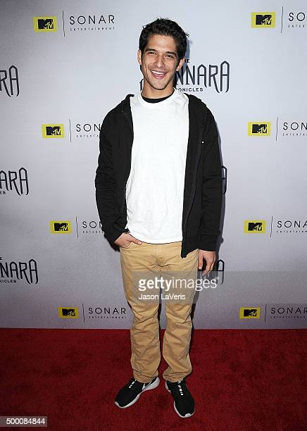 Actor Tyler Posey attends the premiere of 'The Shannara Chronicles' at iPic Theaters on December 4 2015 in Los Angeles California
