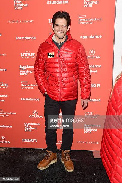 Actor Tyler Posey attends the 'Yoga Hosers' Premiere during the 2016 Sundance Film Festival at Library Center Theater on January 24 2016 in Park City...