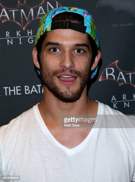 Actor Tyler Posey attends Warner Bros Interactive Entertainment's 'Cape/Cowl/Create' event in downtown San Diego a celebration of the iconic...