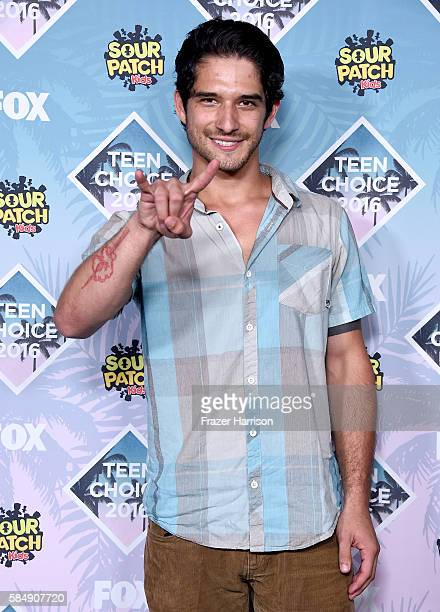 Actor Tyler Posey poses in the press room during Teen Choice Awards 2016 at The Forum on July 31 2016 in Inglewood California