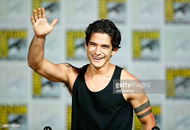 Actor Tyler Posey speaks onstage at MTV's 'Teen Wolf' panel during ComicCon International 2015 at the San Diego Convention Center on July 9 2015 in...
