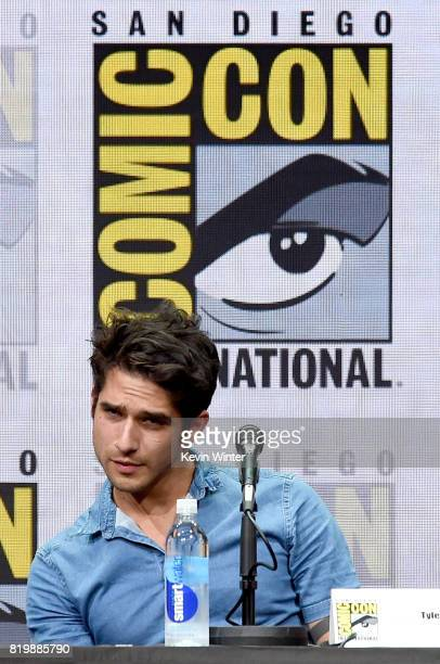 Actor Tyler Posey speaks onstage at the 'Teen Wolf' panel during ComicCon International 2017 at San Diego Convention Center on July 20 2017 in San...