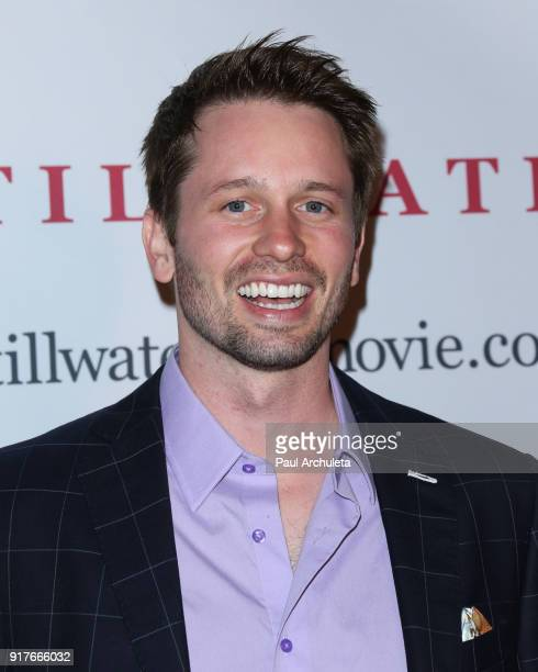Actor Tyler Ritter attends the Stillwater premiere at the Laemmle NoHo 7 on February 12 2018 in North Hollywood California