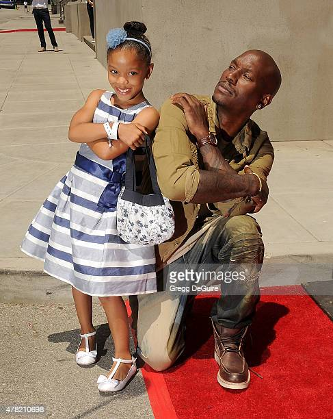 Actor Tyrese Gibson and daughter Shayla Somer Gibson arrive at the premiere of the Fast Furious Supercharged Ride at Universal Studios Hollywood on...