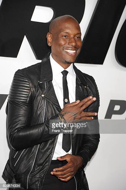 Actor Tyrese Gibson arrives at the premiere of Furious 7 held at the TCL Chinese Theater in Hollywood