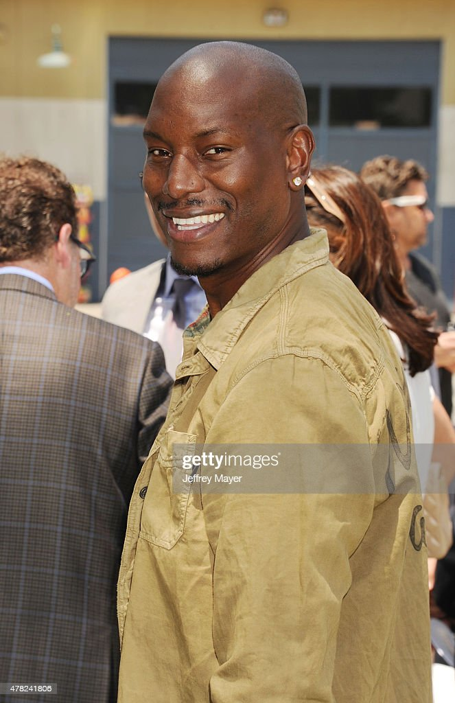 Actor Tyrese Gibson attends the 'Fast & Furious - Supercharged' ride premiere at Universal Studios Hollywood on June 23, 2015 in Universal City, California.