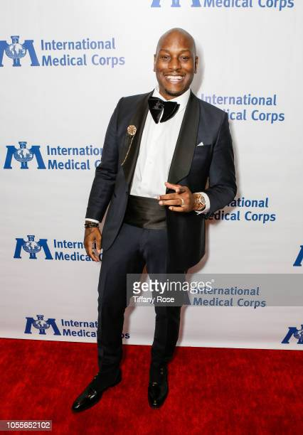 Actor Tyrese Gibson attends the International Medical Corps Annual Awards Celebration on October 30 2018 in Beverly Hills California
