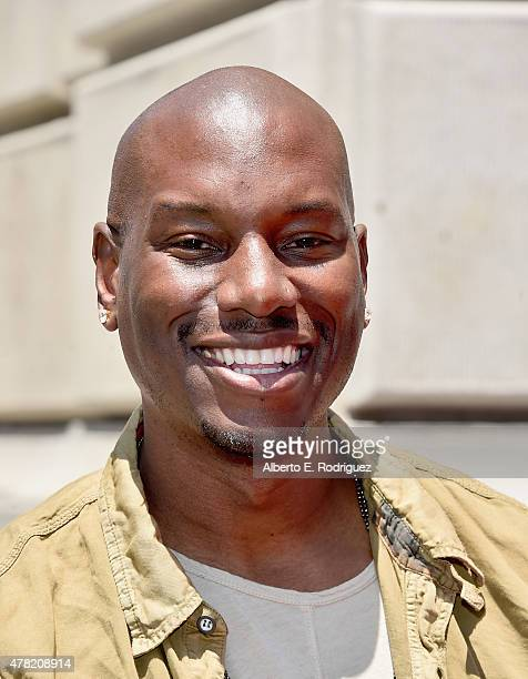 Actor Tyrese Gibson attends the premiere press event for the new Universal Studios Hollywood Ride Fast FuriousSupercharged at Universal Studios...