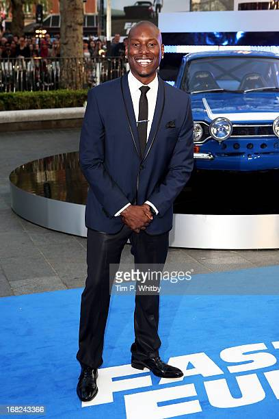 Actor Tyrese Gibson attends the World Premiere of 'Fast Furious 6' at Empire Leicester Square on May 7 2013 in London England