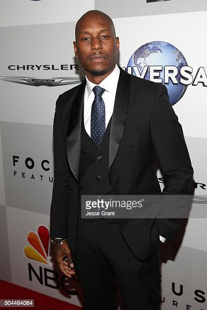 Actor Tyrese Gibson attends Universal NBC Focus Features and E Entertainment Golden Globe Awards After Party sponsored by Chrysler at The Beverly...