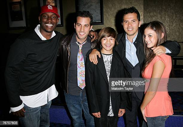 Actor Tyrese Gibson director Brad Furman actor Taylor Gray actor John Leguizamo and actor Jessica Steinbaum attend the The Take world premiere during...