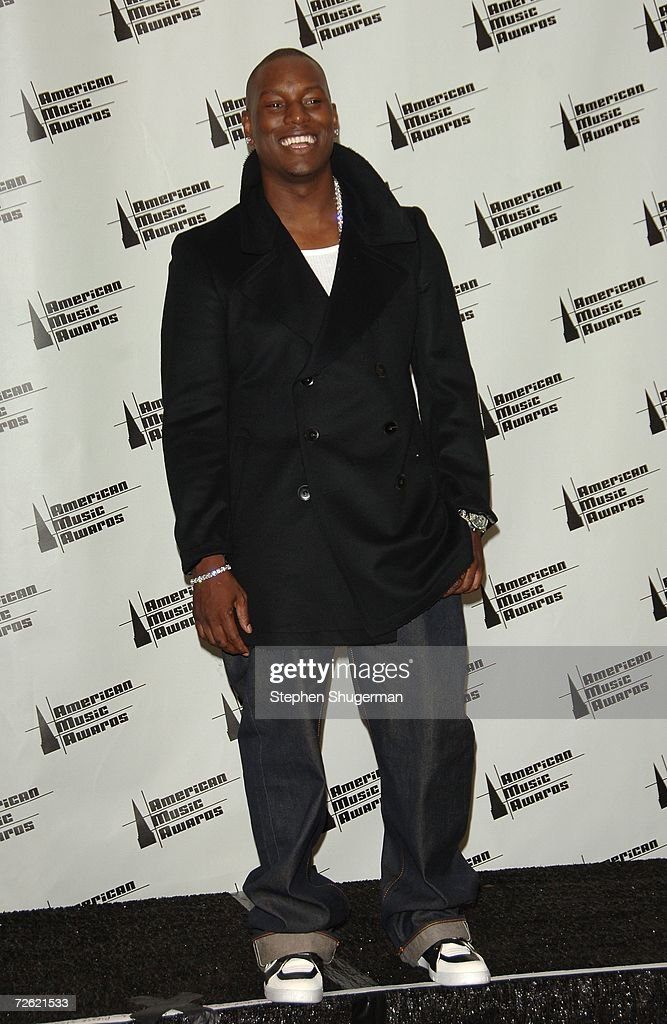 Actor Tyrese Gibson poses in the press room at the 2006 American Music Awards held at the Shrine Auditorium on November 21, 2006 in Los Angeles, California.