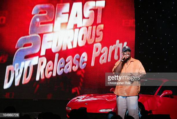 Actor Tyrese speaks at the '2 Fast 2 Furious' DVD launch event in Rio Grande Puerto Rico
