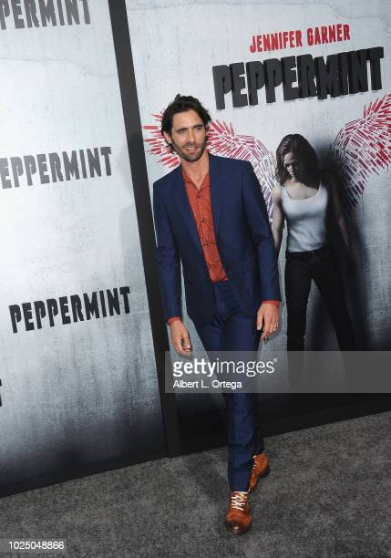 Actor Tyson Ritter arrives for the Premiere Of STX Entertainment's Peppermint held at Stadium 14 on August 28 2018 in Los Angeles California