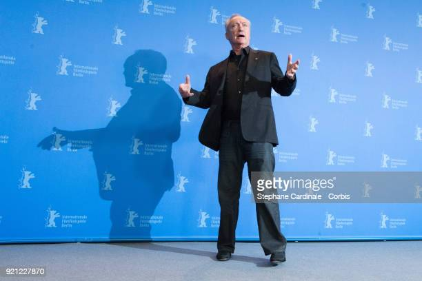 Actor Udo Kier poses at the 'Don't Worry, He Won't Get Far on Foot' photo call during the 68th Berlinale International Film Festival Berlin at Grand...