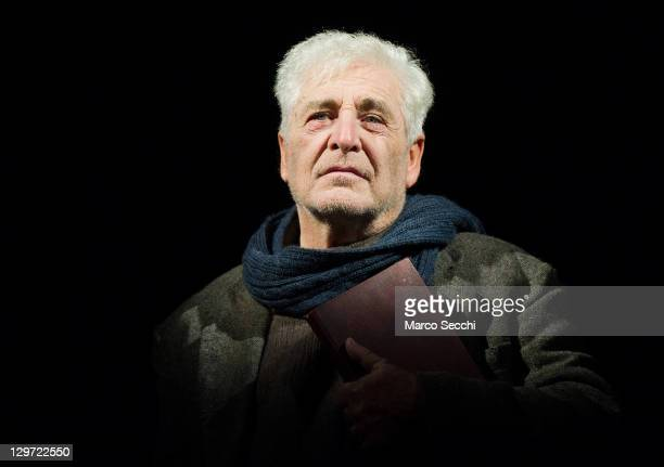 Actor Ugo Pagliai performs during a dress rehearsal of Wordstar at Teatro Goldoni on October 20 2011 in Venice Italy Wordstar is a play based on the...