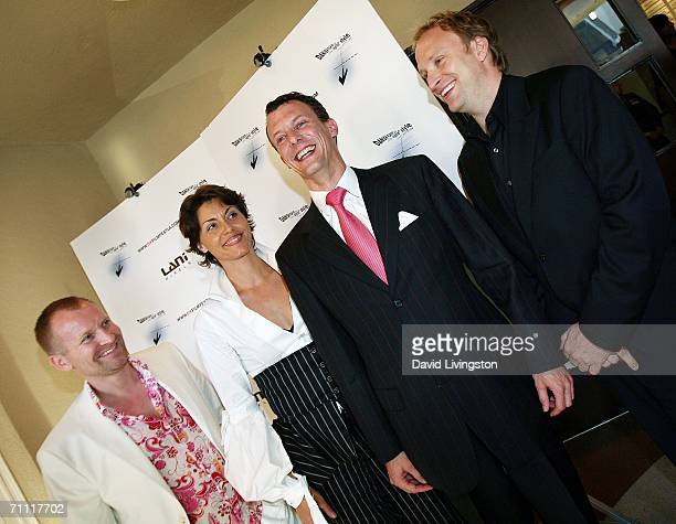 Actor Ulrich Thomsen festival cofounder Lene Pels Jorgensen HRH Prince Joachim of Denmark and festival cofounder Christian D Bruun attend the Danish...