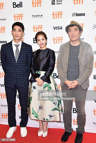 Actor Um Taegoo actress Han Jimin and director Kim Jeewoon attend 'The Age of Shadows' premiere during the 2016 Toronto International Film Festival...