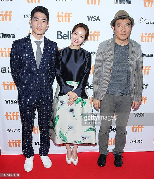Actor Um Taegoo actress Han Jimin and director Kim Jeewoon attends the 2016 Toronto International Film Festival Premiere of The Age Of Shadows at The...