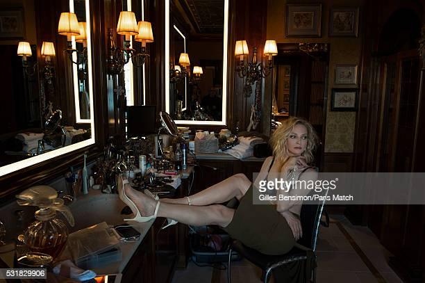 Actor Uma Thurman ambassadress to jewellery designer Chopard is photographed for Paris Match in the house of Caroline Scheufele codirector of Chopard...