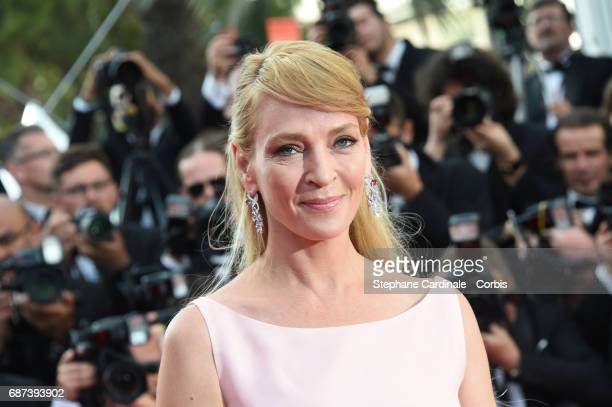 Actor Uma Thurman attends the 70th Anniversary of the 70th annual Cannes Film Festival at Palais des Festivals on May 23 2017 in Cannes France