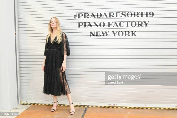 Actor Uma Thurman attends the Prada Resort 2019 fashion show on May 4 2018 in New York City