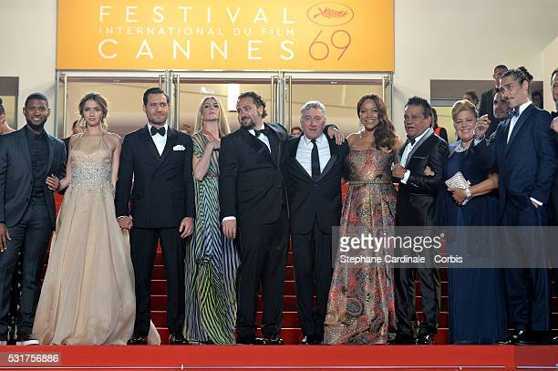 Actor Usher actress Ana de Armas actor Edgar Ramirez producer Claudine Jakubowicz director Jonathan Jakubowicz actor Robert de Niro and his wife...