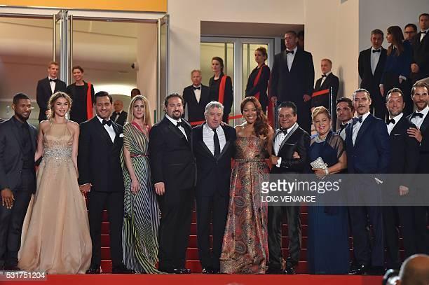 US actor Usher and his wife Grace Miguel Cuban actress Ana de Armas Venezuelan actor Edgar Ramirez Venezuelan director Jonathan Jakubowicz and his...