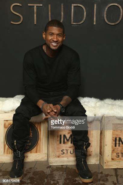 Actor Usher Raymond of 'Burden' attends The IMDb Studio and The IMDb Show on Location at The Sundance Film Festival on January 21 2018 in Park City...