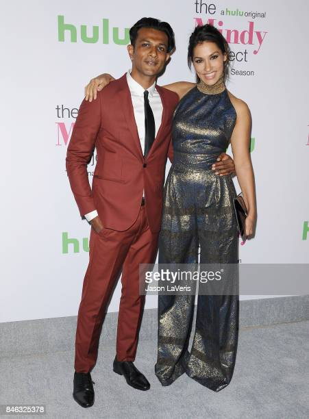Actor Utkarsh Ambudkar and actress Janina Gavankar attend 'The Mindy Project' final season premiere party at The London West Hollywood on September...
