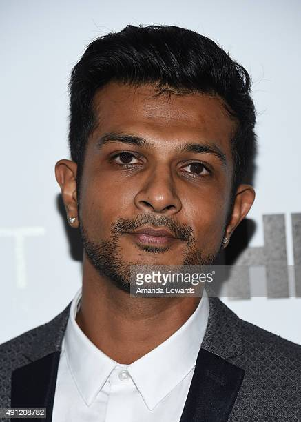 Actor Utkarsh Ambudkar arrives at the Point Foundation's Voices On Point Gala at the Hyatt Regency Century Plaza on October 3 2015 in Century City...