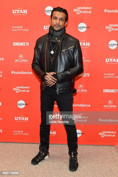 Actor Utkarsh Ambudkar attends the Blindspotting Premiere during the 2018 Sundance Film Festival at Eccles Center Theatre on January 18 2018 in Park...