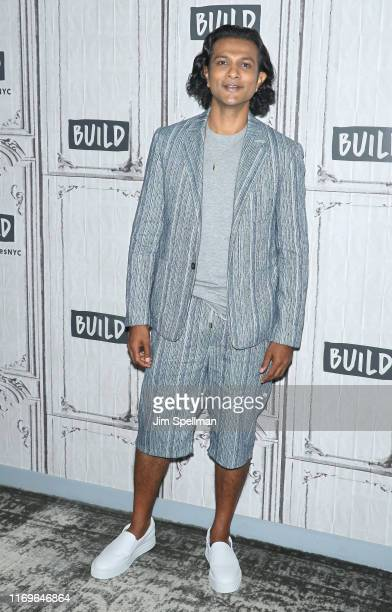 Actor Utkarsh Ambudkar attends the Build Series to discuss Brittany Runs A Marathon at Build Studio on August 22 2019 in New York City