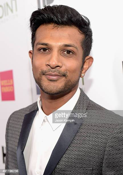 Actor Utkarsh Ambudkar attends the Point Foundation's Annual Voices On Point Gala at the Hyatt Regency Century Plaza on October 3 2015 in Los Angeles...