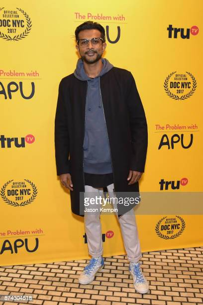Actor Utkarsh Ambudkar attends truTV Presents 'The Problem With Apu' DOC NYC screening and reception at Rahi on November 14 2017 in New York City...