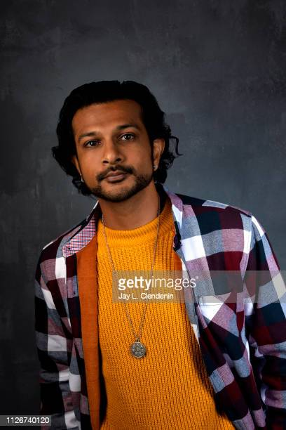 Actor Utkarsh Ambudkar from 'Brittany Runs a Marathon' is photographed for Los Angeles Times on January 29 2019 at the 2019 Sundance Film Festival in...