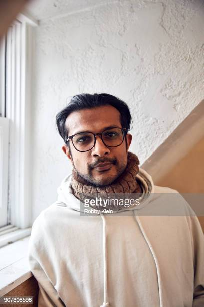 Actor Utkarsh Ambudkar from the 'Blindspotting' poses for a portrait in the YouTube x Getty Images Portrait Studio at 2018 Sundance Film Festival on...
