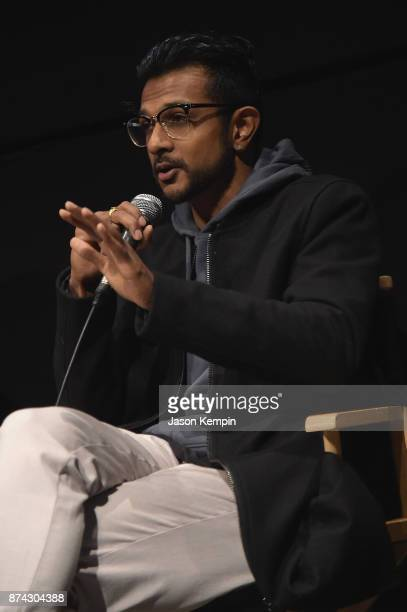 Actor Utkarsh Ambudkar speaks onstage during truTV Presents 'The Problem With Apu' DOC NYC screening and reception at IFC Center on November 14 2017...