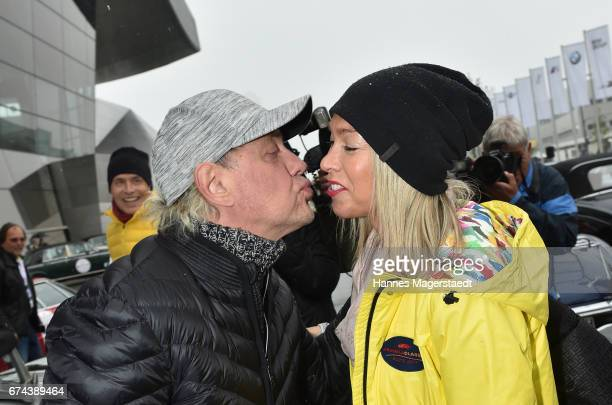 Actor Uwe Ochsenknecht and his girlfriend Kirsten Kiki Viebrock before the ArabellaClassics Route 2017 starts at BMW World on April 28 2017 in Munich...