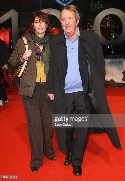 Actor Vadim Glowna and friend Maren Schumacher attend the world premiere of 10000 BC at the Sony Center CineStar on February 26 2008 in Berlin Germany