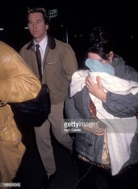 Actor Val Kilmer actress Joanne Whalley and daughter Mercedes Kilmer attend a preview performance of the Broadway play Death and the Maiden on...