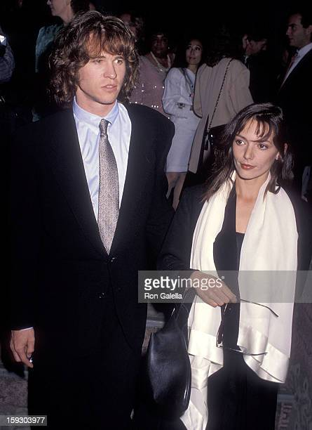 Actor Val Kilmer and actress Joanna Whalley attend the Liberty Hill Foundation's Eighth Annual Upton Sinclair Awards on May 2 1990 at the Beverly...