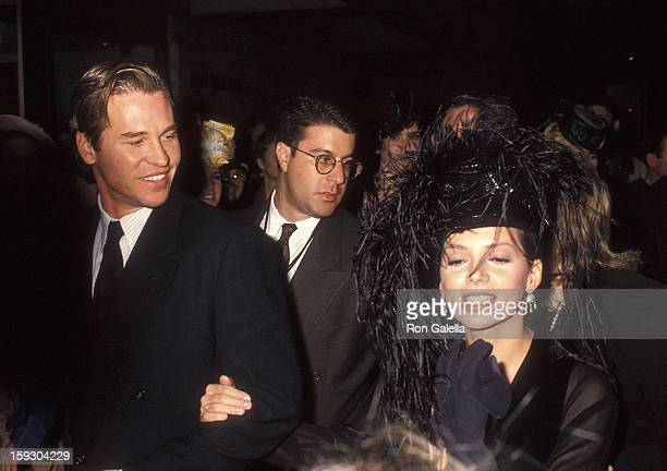 Actor Val Kilmer and actress Joanne Whalley attend the Screening of the CBS Miniseries Scarlett on November 3 1994 at Alice Tully Hall Lincoln Center...