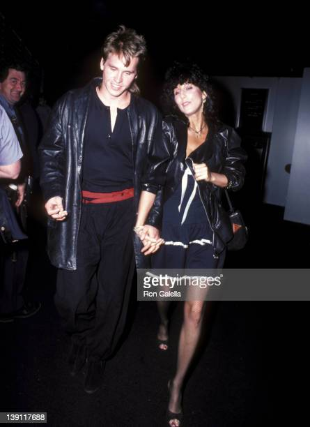 Actor Val Kilmer and singer Cher attend the 'Grease II' Premiere Party on June 9 1982 at The Red Parrot in New York City