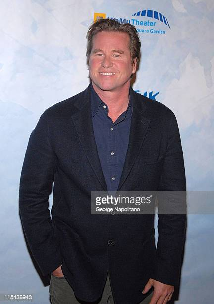 Actor Val Kilmer at the World Premiere Of Wintuk Cirque du Soleil at the WaMu Theater in Madison Square Garden in New York City on November 7 2007
