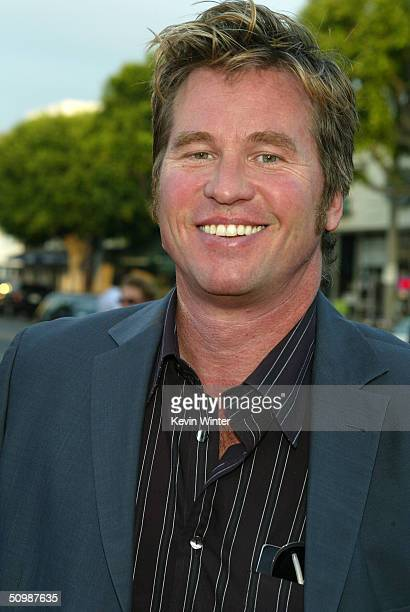 """Actor Val Kilmer attends the premiere of the Sony film """"Spider-Man 2"""" on June 22, 2004 at the Mann Village Theater, in Westwood, California."""